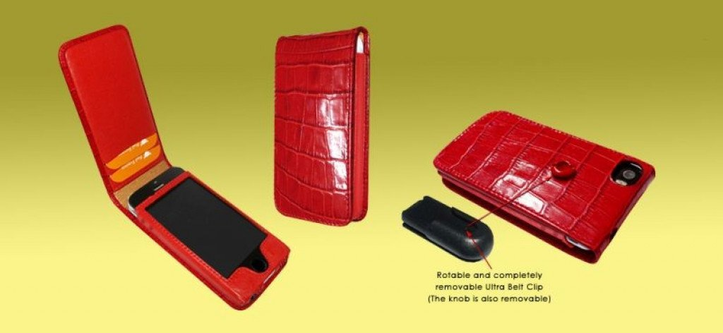 Piel Frama iPhone 5/5S / SE Magnetic Croco Red