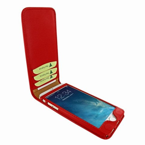 Piel Frama iPhone 8 / 7 Classic Magnetic Red