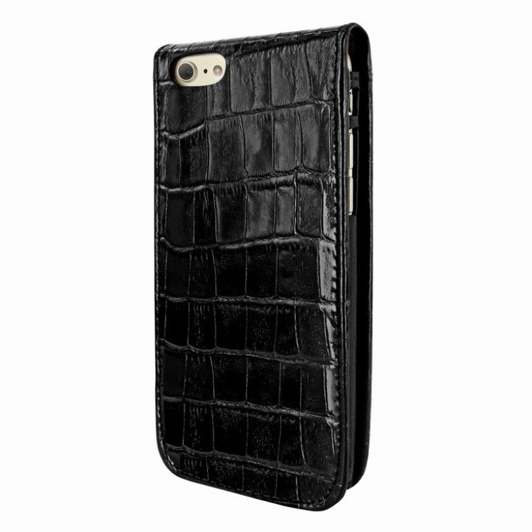 Piel Frama iPhone 7 Classic Magnetic Croco Black