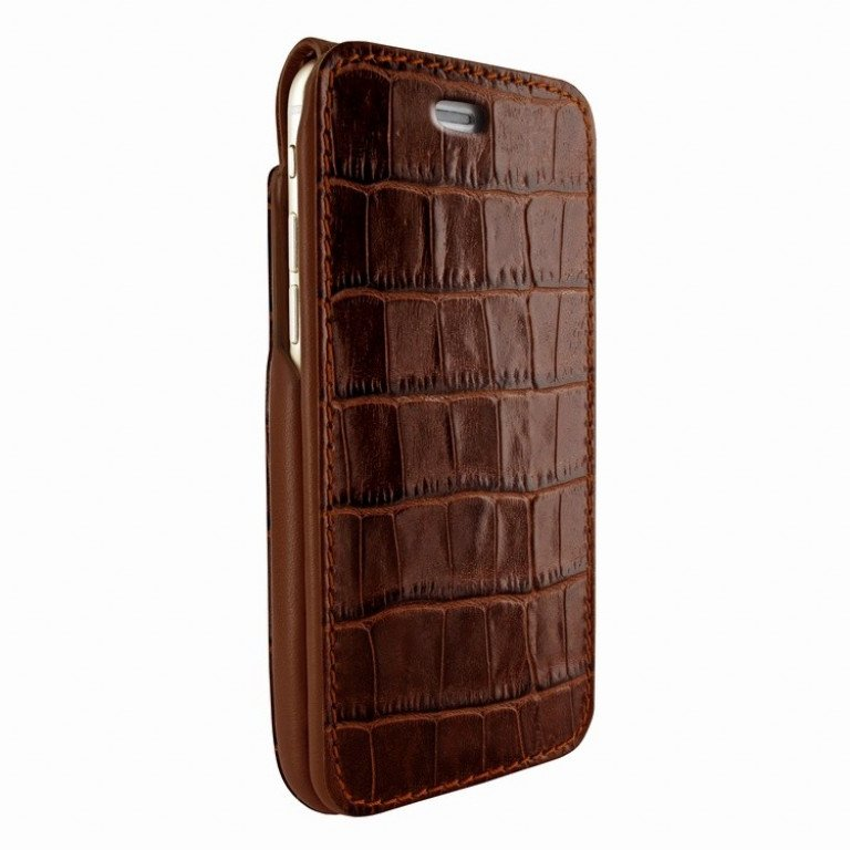 Piel Frama iPhone 7 iMagnumCards Croco Brown
