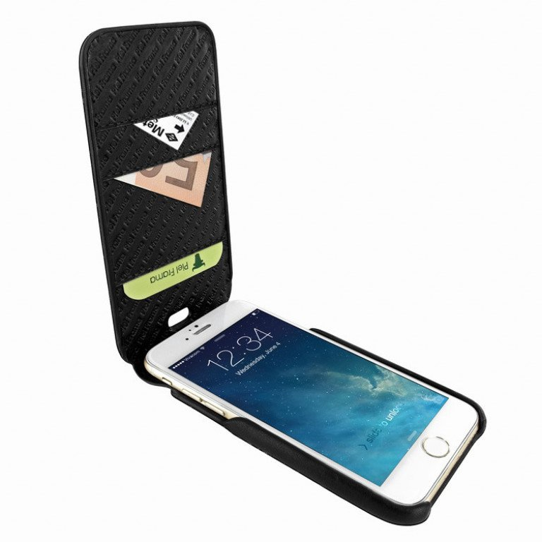 Piel Frama iPhone 7 iMagnumCards Croco Black