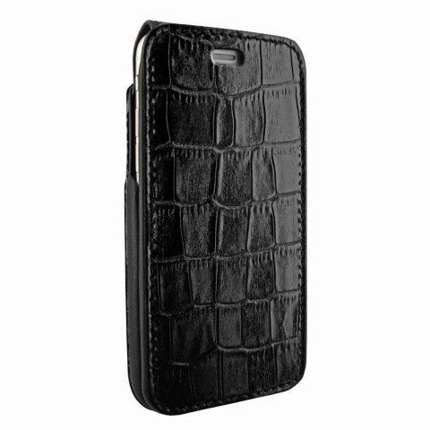 Piel Frama iPhone 8 / 7 iMagnumCards Croco Black