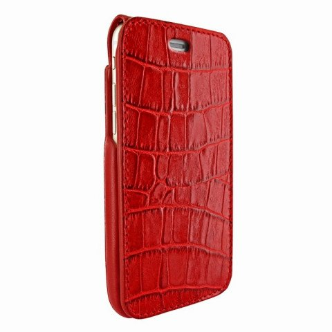 Piel Frama iPhone 7 Plus iMagnumCards Croco Red