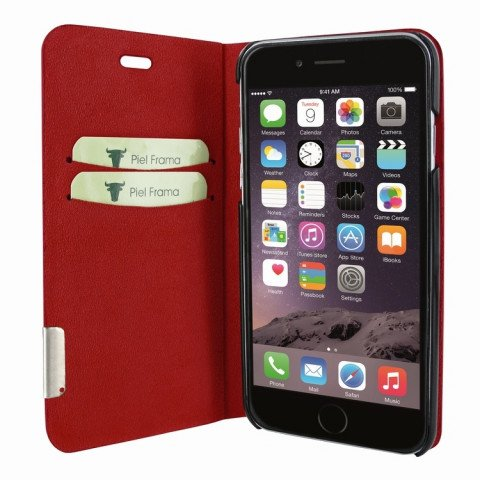 Piel Frama iPhone 8 / 7 FramaSlimCards Red