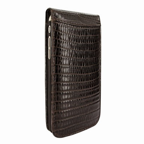 Piel Frama iPhone 8 / 7 Classic Magnetic Lizard Brown