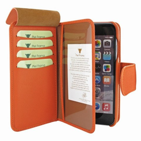 Piel Frama iPhone 8 / 7 Plus WalletMagnum Orange
