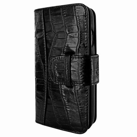 Piel Frama iPhone 8 / 7 Plus WalletMagnum Croco Black