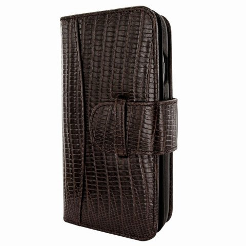 Piel Frama iPhone 8 / 7 Plus WalletMagnum Lizard Brown