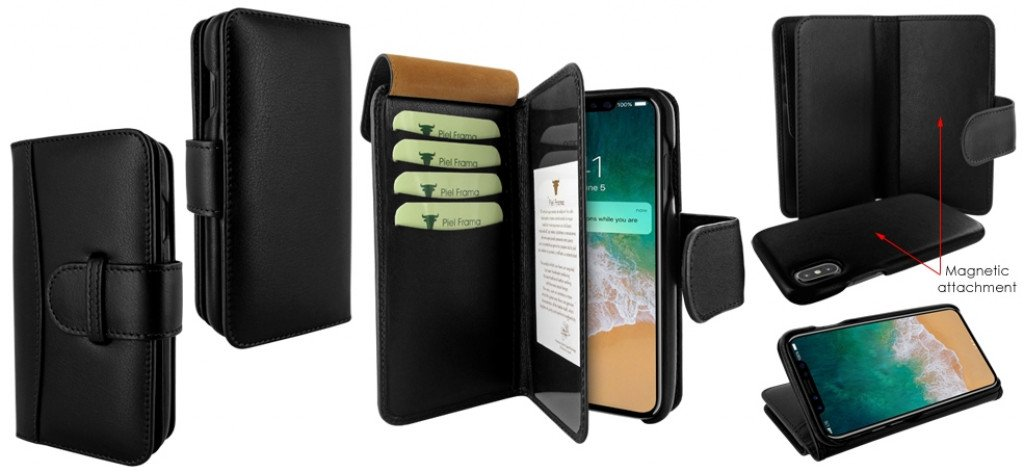 Piel Frama iPhone Xs Max WalletMagnum Black