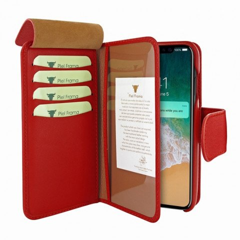 Piel Frama iPhone Xs Max WalletMagnum Red