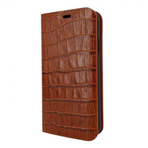 Piel Frama iPhone Xs Max FramaSlimCards Croco Brown