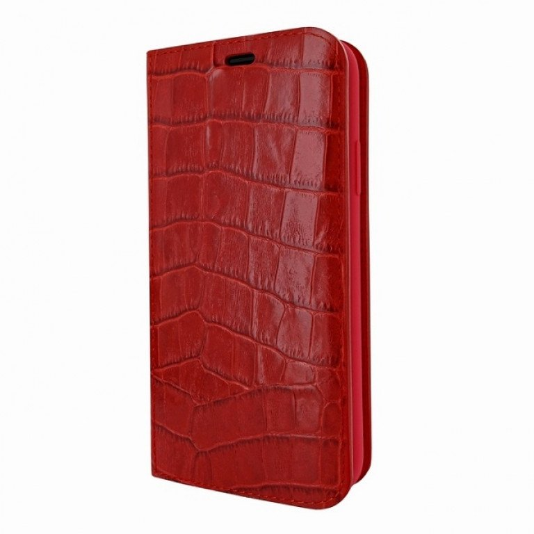 Piel Frama iPhone Xs Max FramaSlimCards Croco Red