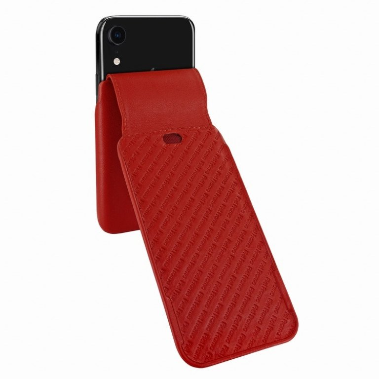 Piel Frama iPhone Xr iMagnum Red