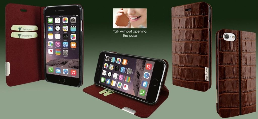 Piel Frama iPhone 8 / 7 FramaSlimCards Croco Brown