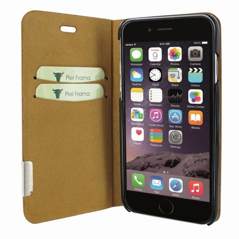 Piel Frama iPhone 8 / 7 FramaSlimCards Ostrich Brown