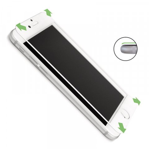 CASEual Full Glass iPhone 7 Plus Wit