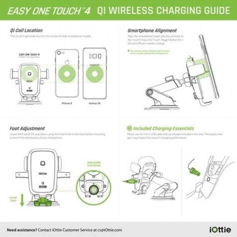 iOttie One Touch 4 Qi Wireless Fast Charging Mount