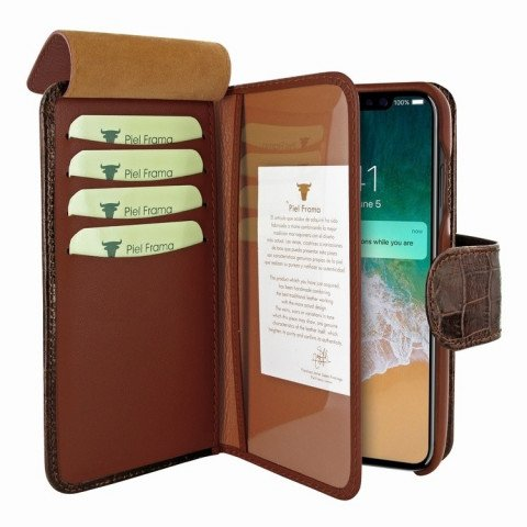 Piel Frama iPhone X WalletMagnum Croco Brown