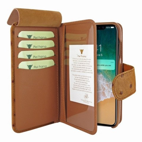 Piel Frama iPhone X WalletMagnum Ostrich Tan