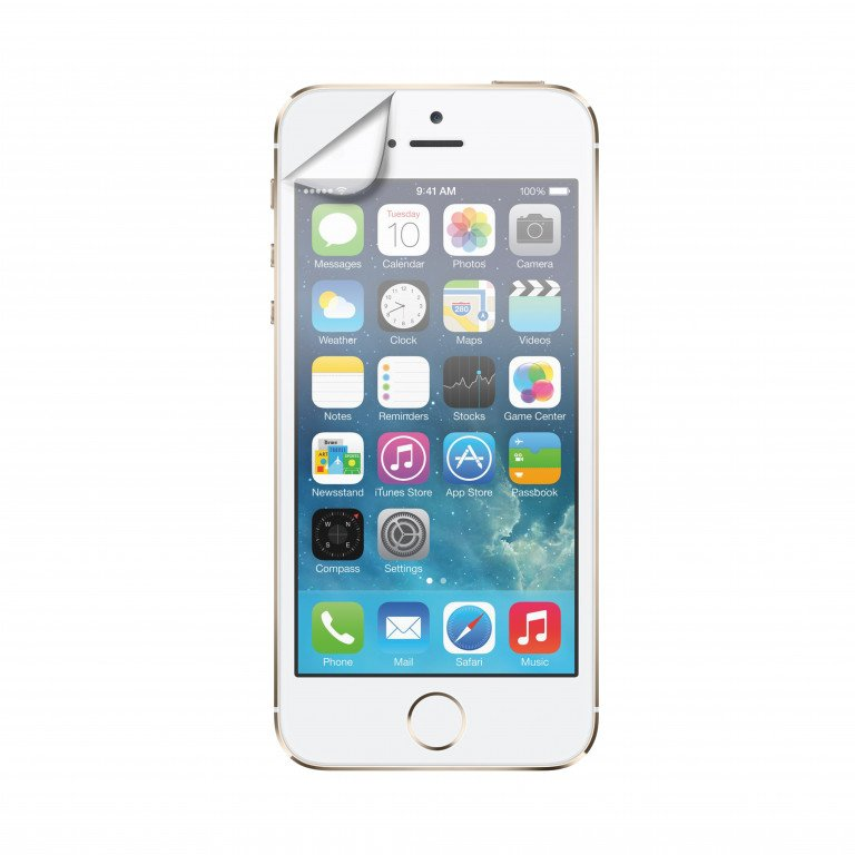 XQISIT Screen Protector Glossy 2pc for IPHONE 5/5s/5C/SE Transparant