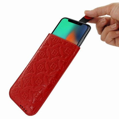Piel Frama iPhone X Pull Style Red