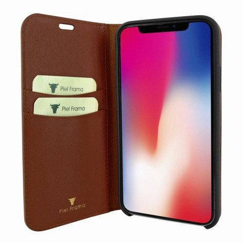 Piel Frama iPhone X FramaSlimCards Croco Brown