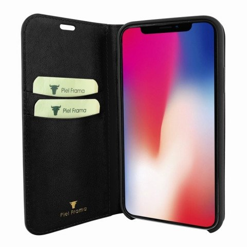 Piel Frama iPhone X FramaSlimCards Croco Black