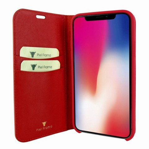 Piel Frama iPhone X FramaSlimCards Croco Red