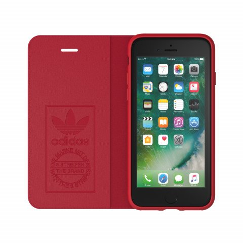 adidas OR Booklet Case SUEDE FW17 for iPhone 6/6S/7/8 red