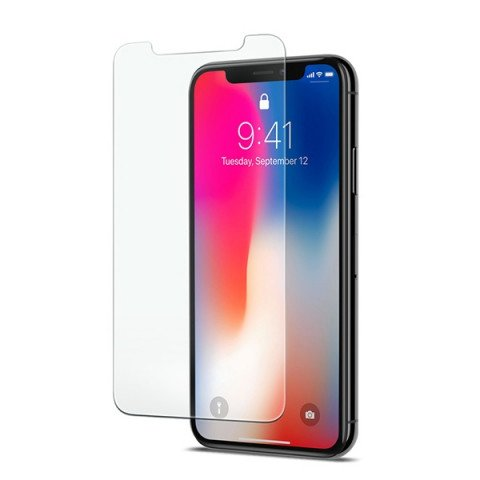 Spigen iPhone X Glas.tR Slim Clear