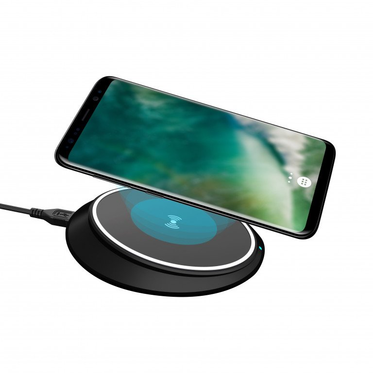 XQISIT Wireless Fast Charger iPhone 10W QC EU black
