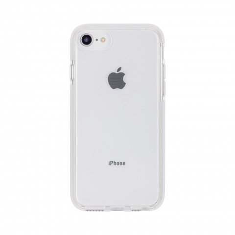 XQISIT Mitico Bumper TPU for iPhone 6/6S/7/8 clear/silver colored