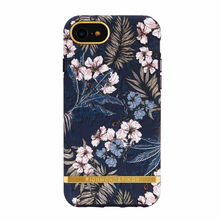 Richmond & Finch Floral Jungle - Gold details for iPhone 6/6S/7/8 blue