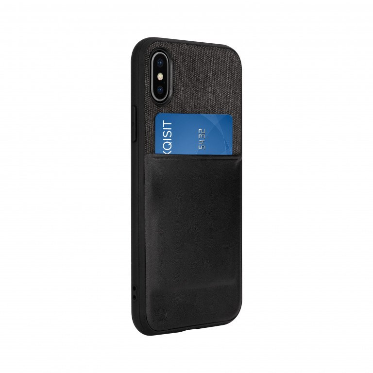 XQISIT Card Case for iPhone X/Xs black