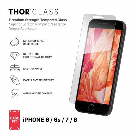 THOR CF Glass with Applicator for iPhone 6/6S/7/8 clear