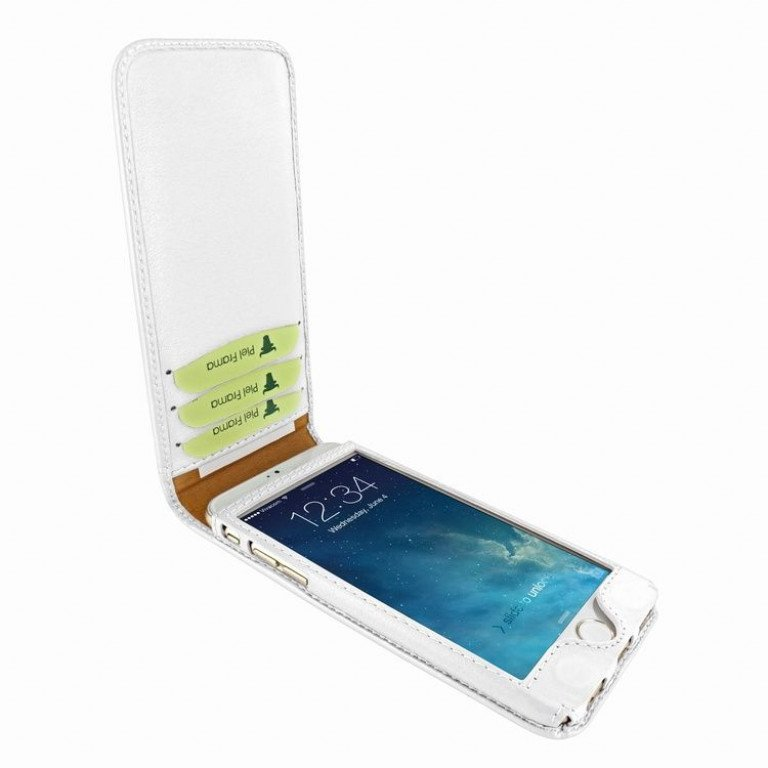 Piel Frama iPhone 6/6S Classic Magnetic White
