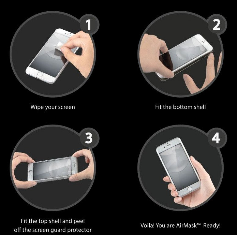 SwitchEasy AirMask iPhone 6 install