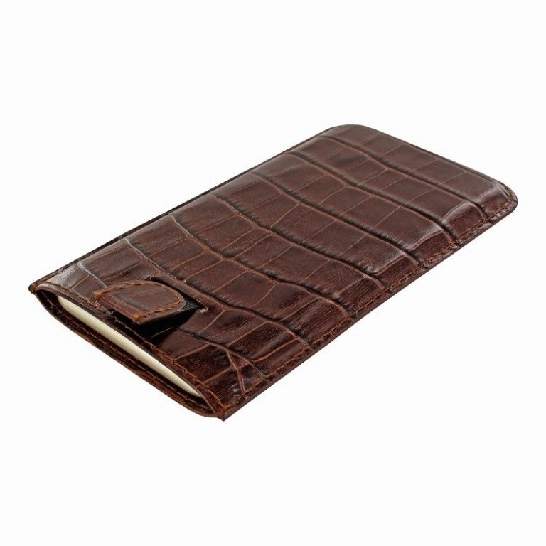 Piel Frama iPhone 8/7/6(S) Pull Style Croco Brown