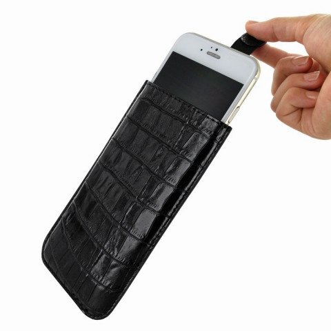 Piel Frama iPhone 8 / 7 / 6(S) Pull Style Croco Black