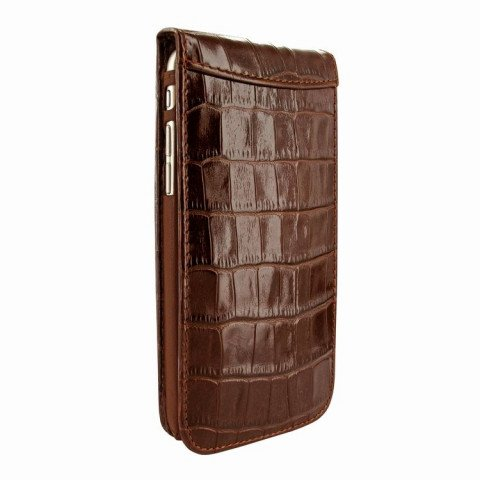 Piel Frama iPhone 6/6S Classic Magnetic Croco Brown