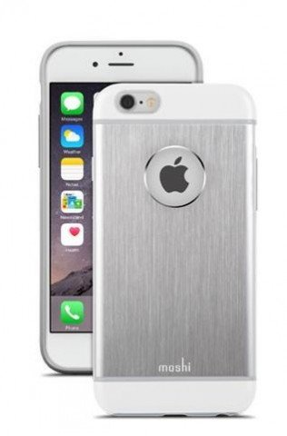 Moshi iGlaze Armour Metallic Case iPhone 6/6S Plus - Jet Silver