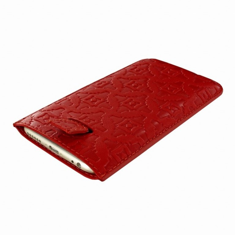 Piel Frama iPhone 7/6(S) Plus Pull Style Red