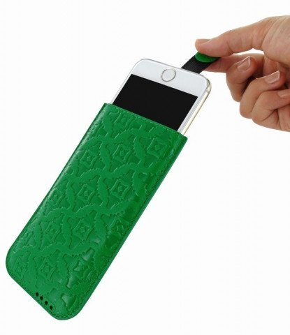 Piel Frama iPhone 8 / 7 / 6(S) Pull Style Green